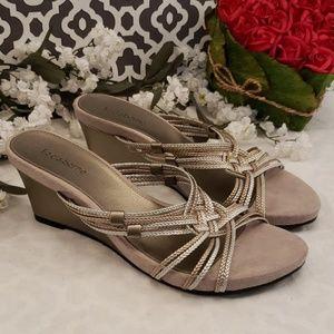 Liz Claiborne wedge sandals